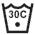 MAXIMUM WASHING TEMPERATURE 30 DEGREES CELSIUS - MILD PROCESS