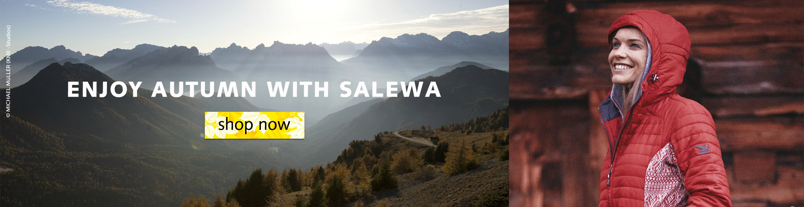 Woman walking with Salewa apparel