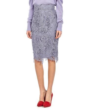 Lavender Macrame Lace Skirt