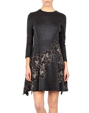 Macrame-lace Knit Dress