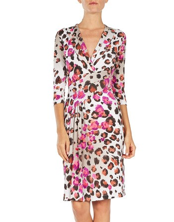 Wrapped Printed Jersey Dress