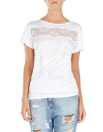 Logo And Lace-appliquéd T-shirt