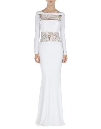 Lace-appliquéd Jersey Gown