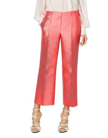 Silk Blend Neon Pants