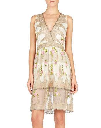 Embroidered Tulle Mini Dress