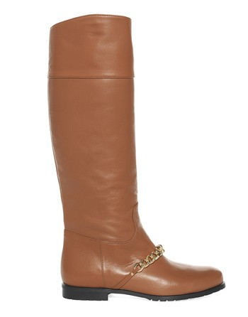 Leather Boots With Chain