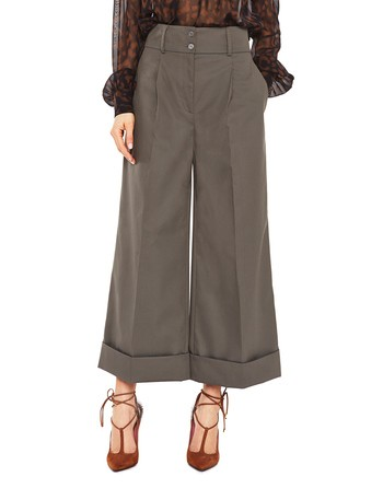 Cropped Technical Cotton Trousers