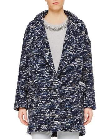 Fringed Over-sized Bouclé Coat
